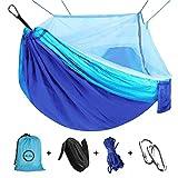 Viaje y Camping Hamaca, Mosquitero Hamaca Ultra Ligera para Viaje y Camping Nylon Portátil Paracaídas Secado Rápido para Excursión Jardín 110'(L) x 59'(W)