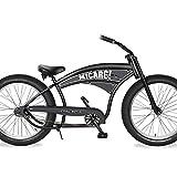 Micargi Royal Dutch for Men 26 inch 4.0 Fat Tire Beach Cruiser Bike Personalized Customization Design Adult Bicycle (26' - Matte Black/Polish)