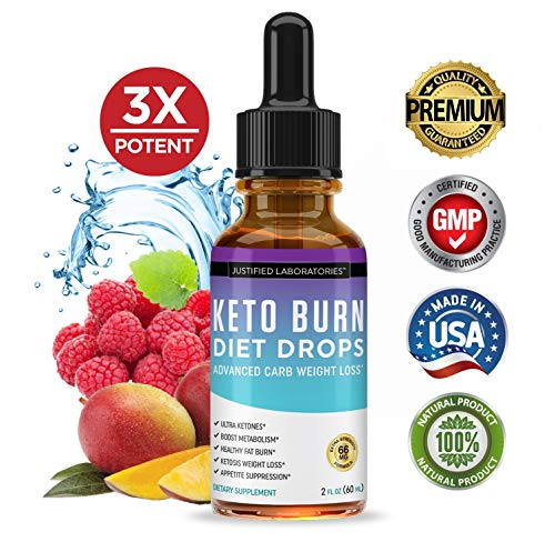 Keto Diet Supplement Drops Shred Burn Ketones for Faster Ketosis Weight Loss Appetite Suppressant Loose Unwanted Belly Fat Raspberry Ketone African Mango Advanced Dietary Blend Made in USA 10 Bottles 3