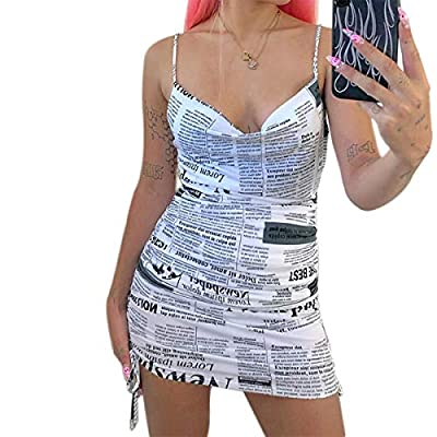 【Material】: Summer face portrait dress for women is made by polyester, soft, skin-friendly, lightweight,comfortable to wear. 【Features】: Tie dye spaghette strap camisole dress, face portrait tank dress, maxi/mini dress, red mouth pattern,e-girl style...