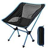 EXTSUD Chaise de Camping Pliante Portable Chaise de Pêche Compact Ultra-légère avec Sac de...