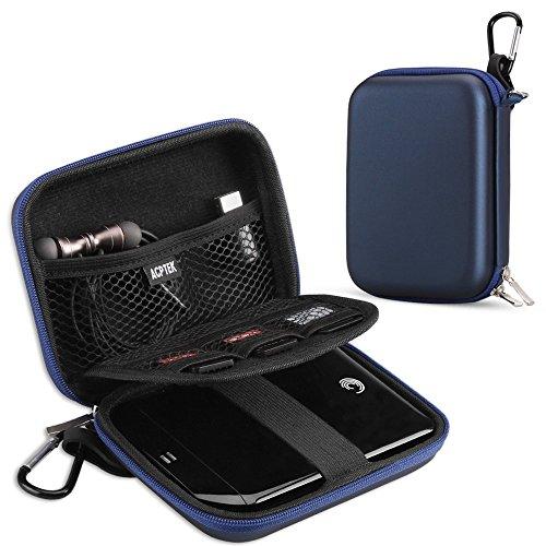 AGPTEK Custodia Antiurto per Hard Drive Esterno 2,5', Passaporto, Lettori Mp3, Scheda Micro SD ECC...