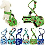 FunnyDogClothes Dog Diaper for Male Boy Belly Band Reusable Washable with Suspenders Soft Fleece (M: Waist 13' - 16', Green Dog)
