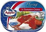 Appel Heringsfilets in Tomaten-Creme, 10er Pack Konserven, Fisch in Tomatencreme
