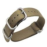 AUTULET Khaki 18mm Remplacement de la Courroie de Bracelet en Nylon balistique...