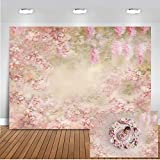 Mocsicka Pink Floral Backdrop 5x3ft Vinyl Fabric Newborn Baby Infant Photo Shooting Props Fine Art Flower Baby Shower Photography Background