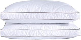puredown Natural Goose Down Feather Pillows for Sleeping Down Pillow Cotton Pillow Cover..
