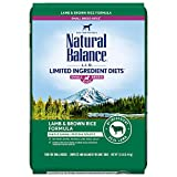 Natural Balance L.I.D. Limited Ingredient Diets Small Breed Bites Dry Dog Food, Lamb & Brown Rice Formula, 12 Pounds