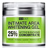 Intimate Whitening Cream - Made in USA Skin Lightening Gel for Body, Face, Bikini and Sensitive Areas - Underarm Bleaching Cream with Mulberry Extract, Arbutin, Licorice Extract