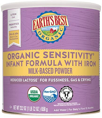Earth's Best Organic Low Lactose Sensitivity Infant Powder...