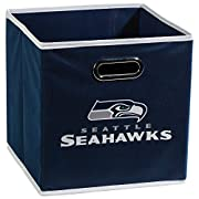 """FITS CUBE ORGANIZERS - Storage bins measure 11x10.5x10.5"""" to fit into most cube organizers DURABLE CONSTRUCTION - Non-woven polyester fabric collapsible storage bins fold flat when not in use SUPPORT YOUR TEAM - Choose from your favorite NFL team STY..."""