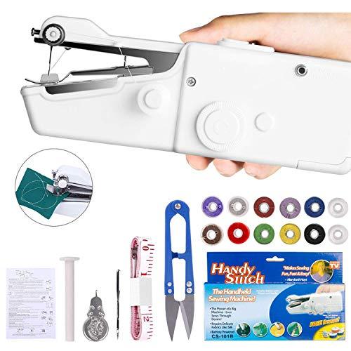 Mini Macchina da Cucire Portatile, Handheld Cordless Strumento di Cucitura Rapida, Casa E Viaggio...