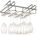 WENKO Accroche-verres pour étagère - pour 12 verres, Métal...