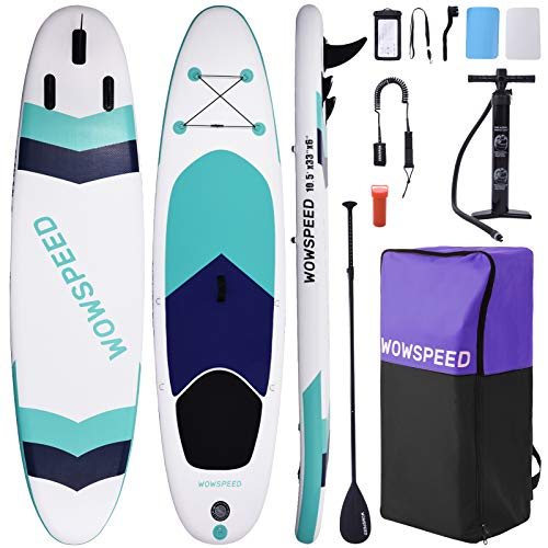 OneV FT Tavola da Surf 320x84x15cm 135kg Tavole da SUP, Tavola Gonfiabile, con Pagaia Zaino Pompa, capacità di Carico di 130 kg, Strisce Colore