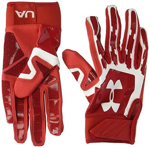 Under Armour boys Heater Baseball Batting Gloves,Red (600)/White,Youth Medium