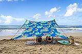 Neso Tente de Plage de Tente de avec l'ancre de Sable, Sunshade portative d'auvent - 2.1m 'x 2.1m -...