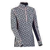 Kari Traa Women's Rose Base Layer Top - Half Zip 100% Merino Wool Thermal Shirt Calm Small