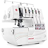 SINGER | Professional 14T968DC Serger Overlock with 2-3-4-5 Stitch Capability, 1300 Stitches per minute, & Self Adjusting - Sewing Made Easy