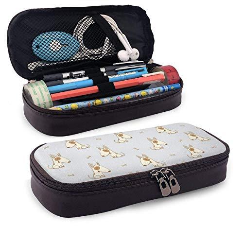 Cute Cartoon Dog Astuccio Case Zipper Bag Stationery Pouch Holder Box Organizer for Middle High School Office College