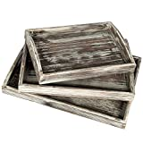 Country Rustic Torched Wood Nesting...