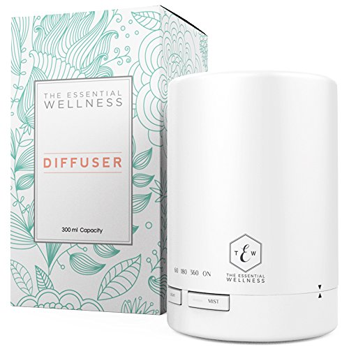 Essential Oil Diffuser - Diffusers for Essential Oils - Aroma Diffuser with Timer - BPA Free - Auto Shut Off 300ml