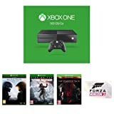 Console Xbox One 500Go Halo 5 : Guardians Rise of the Tomb Raider Metal Gear Solid V : The Phantom Pain - édition day one Forza Horizon 2 (en téléchargement) Forza Horizon 2 sera disponible le lundi 28 mars uniquement