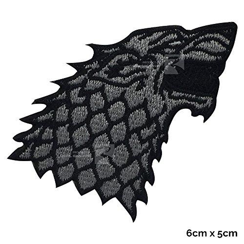 Parche bordado para coser o planchar de Game of Thrones House Stark Direwolf