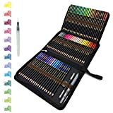 72 Crayons De Couleurs aquarellable dans une trousse à crayons personnalisée,...
