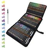 72 Crayons De Couleurs aquarellable dans une trousse à crayons...