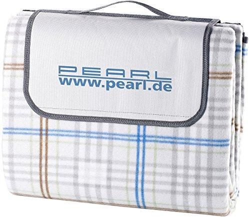 PEARL Picknickdecke: wasserdichte XXL-Picknick-Decke aus Fleece, 2,5 x 2 m (Picknickdecke wasserdicht waschbar)