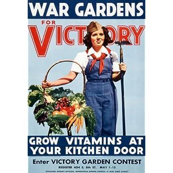 Amazon.com: Affiche Prints 2W85 Vintage 1940's WWII War Victory ...