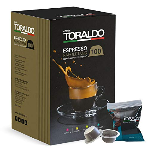 Caffè Toraldo Miscela Decaffeinata Capsule compatibili Bialetti 100 pz / 720 g