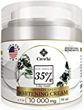 Skin Whitening Cream for Sensitive & Intimate Areas - Bleaching Gel for Body, Face, Bikini - Natural Lightening & Skin Care -Bleach dark spot removal for Women and Men - 35% percent