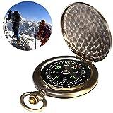 BETOY Boussole de Poche, Boussole Poche en Laiton Waterproof Portable Montre de Poche Boussole...