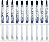 Bright White Smiles - Teeth Whitening Gel Refill Kit - 10 Tubes 44% Carbamide Peroxide Tooth Whitener Formula