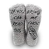 iZoeL Calcetines mullidos para mujer, divertidos calcetines con texto en inglés...