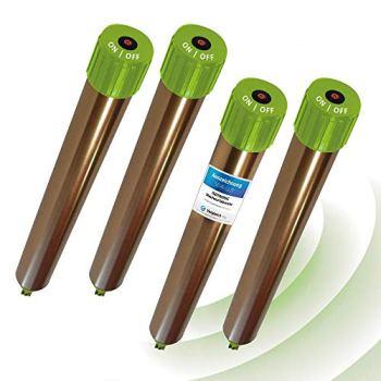 ISOTRONIC® Taupe Deterrer, dissuasif efficace contre les taupes, les souris, les fourmis, rats, et les Serpents - Répulsif à haute fréquence pour l'usage extérieur, 4 pièces