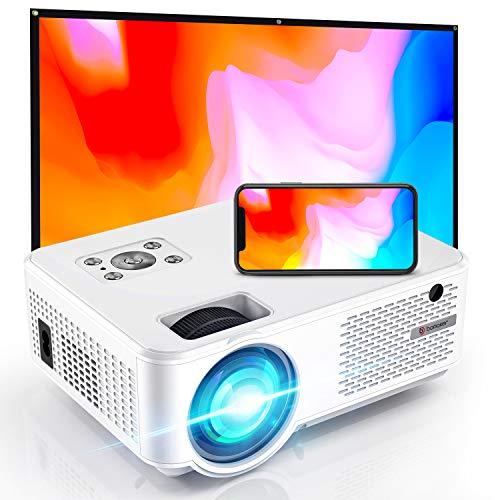 Vidéoprojecteur WiFi Portable 7000 Native 720P HD Projecteur 1080P Soutien Retroprojecteur Home Cinéma 300'' Display avec Dual Fan Compatible avec Telephones/PC/TV Box/PS4/Chromecast - BOMAKER C9