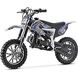 MotoTec 50cc Demon Kids Gas Dirt Bike 2-Stroke Motorcycle Pit Bike Blue