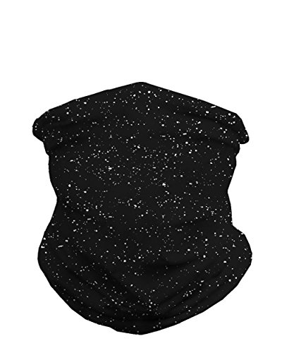 INTO THE AM Black - Paint Splatter Multi-Functional Seamless Face Mask Bandana