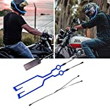 YnGia Motorcycle Helmet Light led Helmet Sticker EL Strip (Blue)