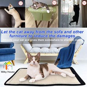 Cat-Scratch-Pad-2PK-Non-Scratch-Pads-Couch-Corner-Kitty-Scratching-Bed-Post-Tree-Ramp-Cardboard-Replacement-Sisal-Thin-Scratcher-Mat-with-Velcro-Pins-Protecting-Furniture-Sofa-Chair-Desk-Legs-16X12in