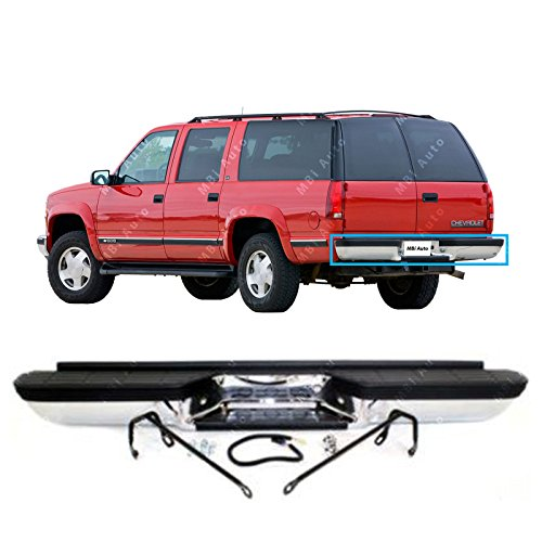 MBI AUTO - Steel Chrome, Rear Step Bumper Assembly for 1993-1999 Chevy Suburban Tahoe GMC Yukon, GM1101113