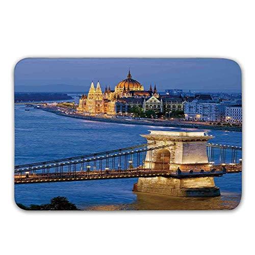 Kinhevao Stuoie in Gomma Antiscivolo con Supporto in Gomma, Fiume di Budapest alla Sera Ponte...
