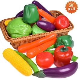 Liberty Imports Life Sized Bag of Vegetables Play Food Playset for Kids – Great with Fruits Set!