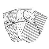 CuddleBug Lot de 3 Langes Réglables Pour Bébé (Pois et Rayures) Taille S/M...