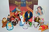Disney Beauty and the Beast Movie Deluxe Party Favors Goody Bag Fillers Set of 14 with Figures, a Tattoo Sheet, ToyRing Featuring The Beast, Belle, Lumiere, Gaston and More!