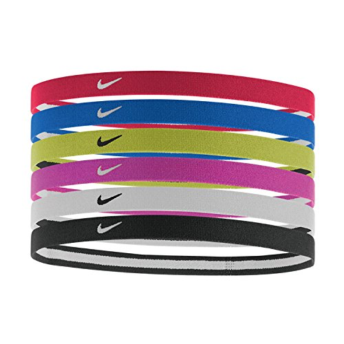 Nike Swoosh - Fascetta per Capelli, Unisex, 9318-951, University Red/Game Royal/Volt, Taglia Unica...
