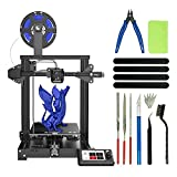 Voxelab Aquila FDM 3D Printer Machine, Bundled with 3D Print Tool Kit Cleaning Set, Resume Printing and Fully Open Source, DIY 3D Printer Kit for Kids/Adults/Beginner, Build Volume 220x220x250mm