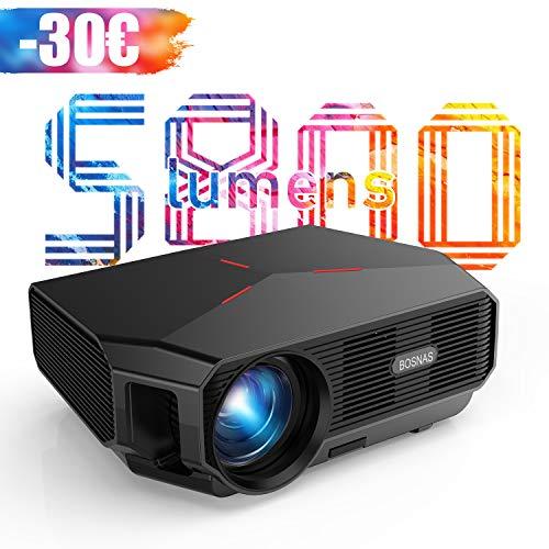 2020 Aggiornato Proiettore WiFi Videoproiettore HD Wireless Nativo 720P Proiettore Home Theater 5800 Lumens con 200',...